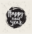 Happy New Year in round vector image vector image