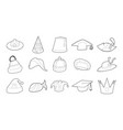 Hat icon set outline style