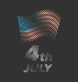 independence day halftone banner vector image
