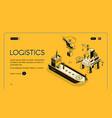 industrial company logistics web banner vector image