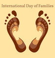 international day of families vector image vector image