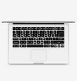 laptop - top view vector image