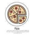 line pizza design vector image vector image