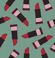 Lipstick seamless pattern vector image vector image