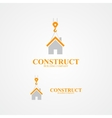 Logo for construction company vector image vector image