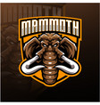 mammoth head esport mascot logo design vector image