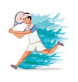 man playing tennis character vector image vector image
