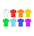 man t-shirt cotton clothing vector image vector image