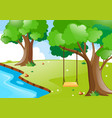 nature scene with river and trees vector image vector image