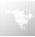 North america in a cage on white background vector image
