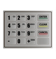 Realistic ATM keypad vector image vector image