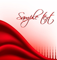 red satin background vector image