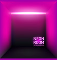 retro 80s violet neon backdrop vector image