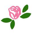 rose blossom tattoo graphic art symbol flower vector image vector image