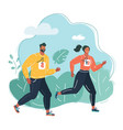running people in park vector image vector image