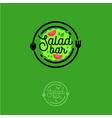 salad bar logo vegetarian vector image vector image