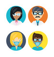 set doctor with glasses and mask vector image vector image