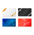 set of bright different gift cards on white vector image vector image