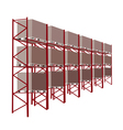 Shelves Manufacturing Storage With Goods vector image