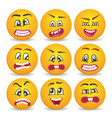 smiley faces with different facial expressions set vector image