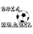 Soccer or football emblem vector image vector image