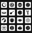 sport balls icons set squares vector image vector image