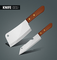 Stainless steel kitchen knife vector image vector image