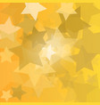 stars yellow background golden stars vector image