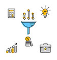 successful business icons in set vector image