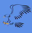 swooping eagle abstract art