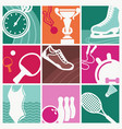 vintage sport symbols vector image vector image