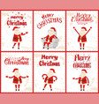 wintertime greeting cards with father frost vector image vector image