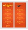 Wok menu Template menu of wok restaurant Flat vector image vector image