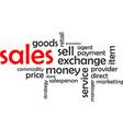 word cloud sales vector image vector image