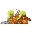 cartoon forest animals group design vector image
