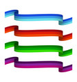 set of tricolor ribbons vector image