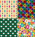 Seamless patterns Set 3 Abstract colorful vector image