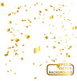 abstract background celebration gold confetti vector image vector image