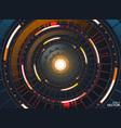 abstract circle technology concept circuit board vector image vector image