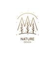 abstract minimal logo landscape vector image