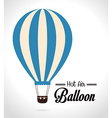 Airballoon design over white background vector image vector image