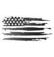 american grayscale flag vector image vector image