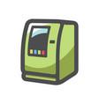 atm payment terminal money box cartoon vector image