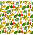 autumn oak leaves seamless pattern nature vector image