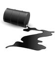 Barrel with black liquid vector image vector image