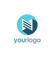 building icon logo vector image vector image