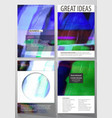 Business template for brochure flyer report