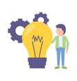 businessman bulb creativity vector image vector image