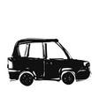 car doodle transport sketch hand drawn delivery vector image