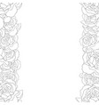 carnation flower outline border vector image